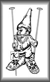 Knitting Gnome Art Stamp